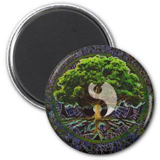 Yin Yang Tree of Life 6 Cm Round Magnet