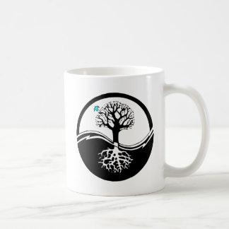 Yin Yang Tree Of Life Black & White Coffee Mug