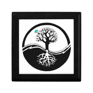 Yin Yang Tree Of Life Black & White Gift Box