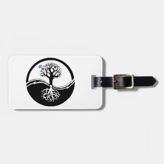 Yin Yang Tree Of Life Black & White Luggage Tag