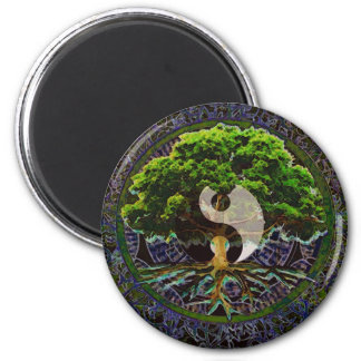 Yin Yang Tree of Life Magnet