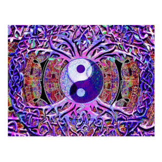 Yin Yang Tree of Life Postcard