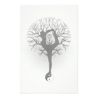 Yin Yang, Tree of Life, Women, Yoga Stationery
