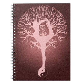 Yin yang, tree of life, yoga, harmony notebook