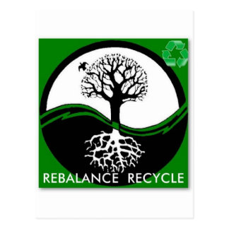 Yin Yang Tree Rebalance Recycle Post Card