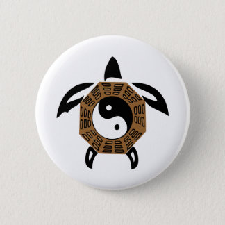 yin-yang-turtle 6 cm round badge