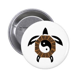 yin-yang-turtle 6 cm round badge