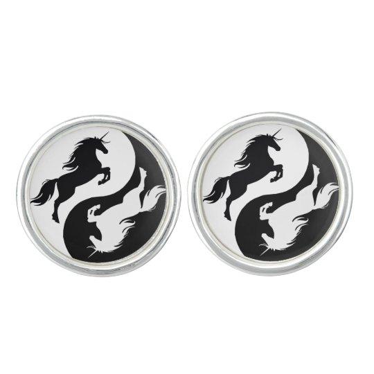 yin yang unicorn cufflinks  zazzlecouk