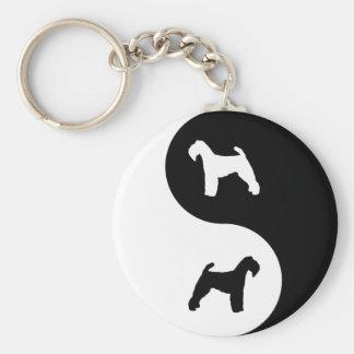 Yin Yang Welshie Basic Round Button Key Ring