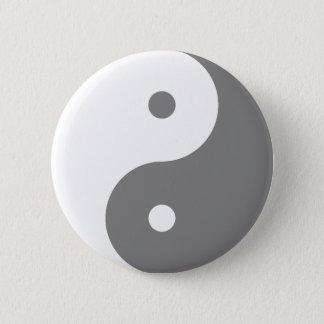Yin Yang - white 6 Cm Round Badge