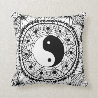 Yin & Yang White Cushion