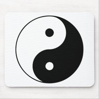 Yin Yang Ying Taoism Sign Chinese Taijitu Black Mouse Pad