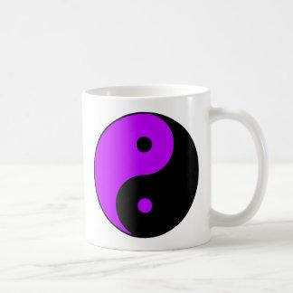 Yin Yang Ying Taoism Sign Chinese Taijitu Purple Coffee Mug