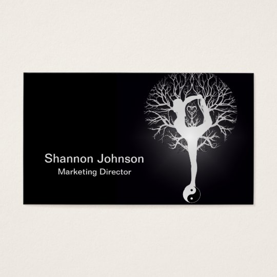 Yin Yang Yoga Tree Business Card