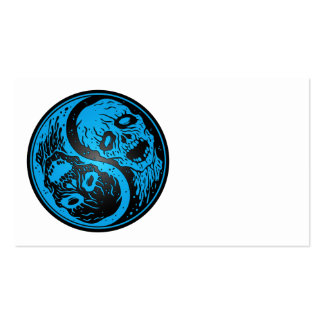 Yin Yang Zombies Blue and Black Business Card