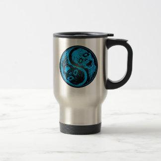 Yin Yang Zombies Blue and Black Coffee Mugs