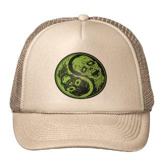 Yin Yang Zombies Green and Black Trucker Hat