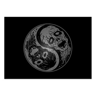 Yin Yang Zombies Grey and Black Business Cards