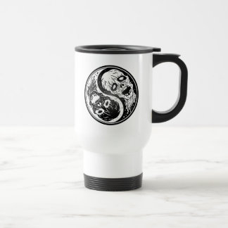 Yin Yang Zombies White and Black Coffee Mugs