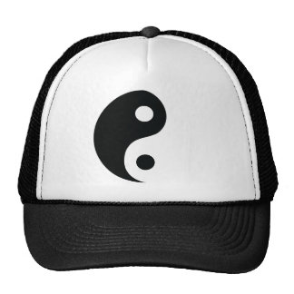 ying and yang icon mesh hats