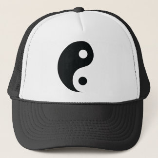 ying and yang icon trucker hat