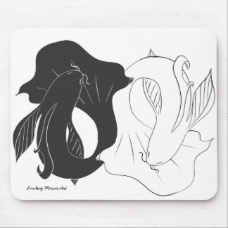 Ying and Yang koi Mouse Mat