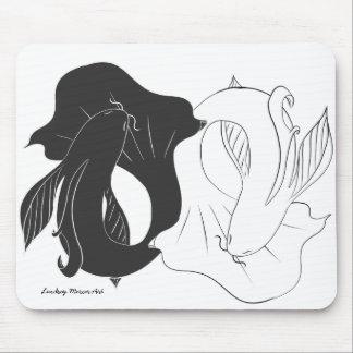 Ying and Yang koi Mouse Pad