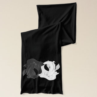 Ying and Yang koi Scarf