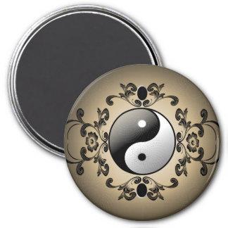 Ying and yang refrigerator magnets