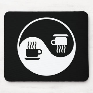 Ying and Yang of Coffee Mouse Pad