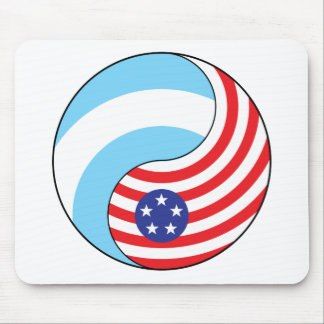 Ying Yang Argentina America Mouse Pad