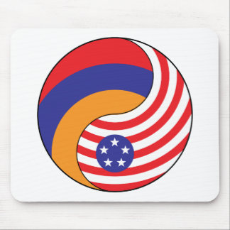 Ying Yang Armenia America Mousepad