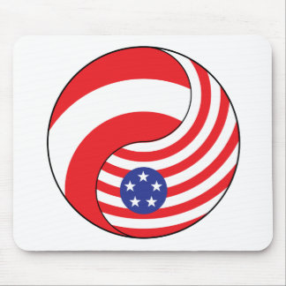 Ying Yang Austria America Mouse Pad