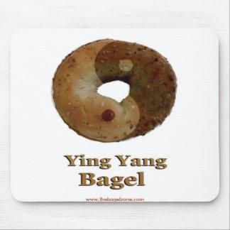 Ying Yang Bagel Mouse Pad