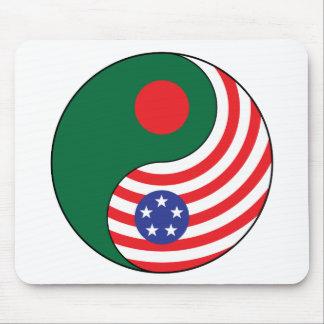 Ying Yang Bangladesh America Mouse Pad