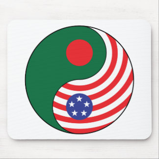 Ying Yang Bangladesh America Mousepads