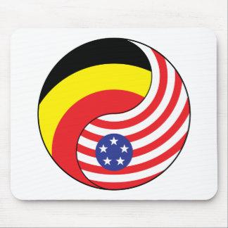 Ying Yang Belgium-Andoora America Mousepads