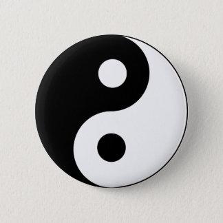 Ying Yang Black and White Symbol 6 Cm Round Badge
