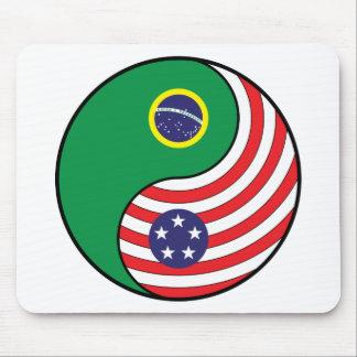 Ying Yang Brazil America Mousepad