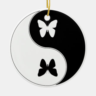 Ying Yang Butterfly Christmas Ornament