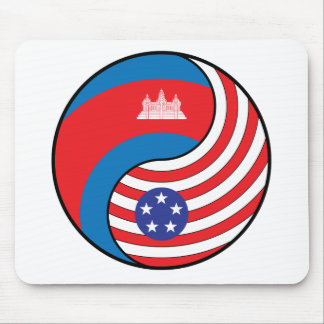 Ying Yang Cambodia America Mouse Pads