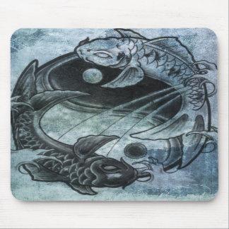 Ying Yang Carp Mousepad