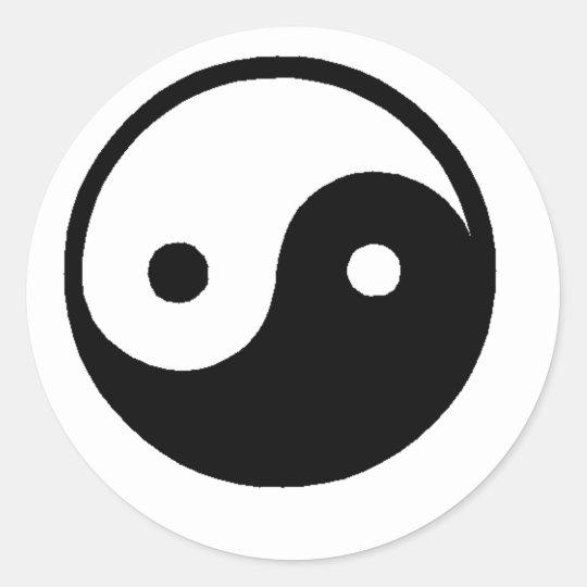 ying_yang classic round sticker