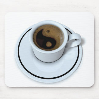 Ying Yang coffee Mouse Pad