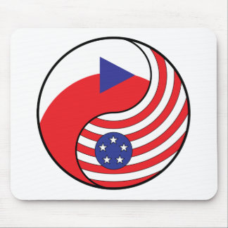 Ying Yang Czech Republic America Mouse Pads