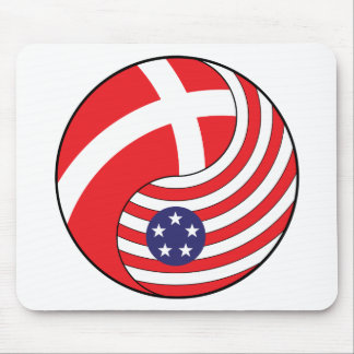 Ying Yang Denmark America Mouse Pads