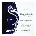 Ying Yang Dragon Birthday theme 13 Cm X 13 Cm Square Invitation Card