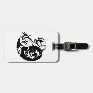 Ying Yang dragon Luggage Tag