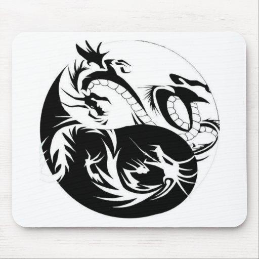 Ying Yang dragon Mousepad