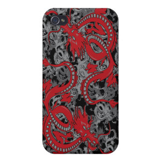 Ying Yang Dragon oin Red - Chinese New Year iPhone 4/4S Covers